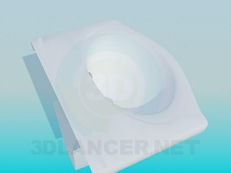 modelo 3D Lavabo de colgar - escuchar