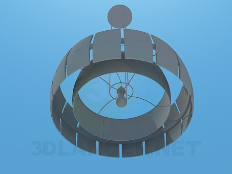 3d model Chandelier for one lamp with shade - preview