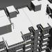 3d Modern building model buy - render