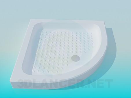 3d моделирование Угловой поддон для душевой кабинки модель скачать бесплатно