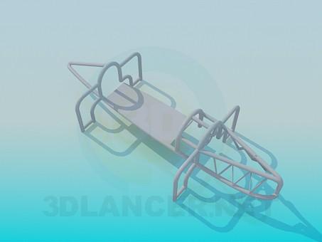 3d модель Літак для дитячого майданчика – превью