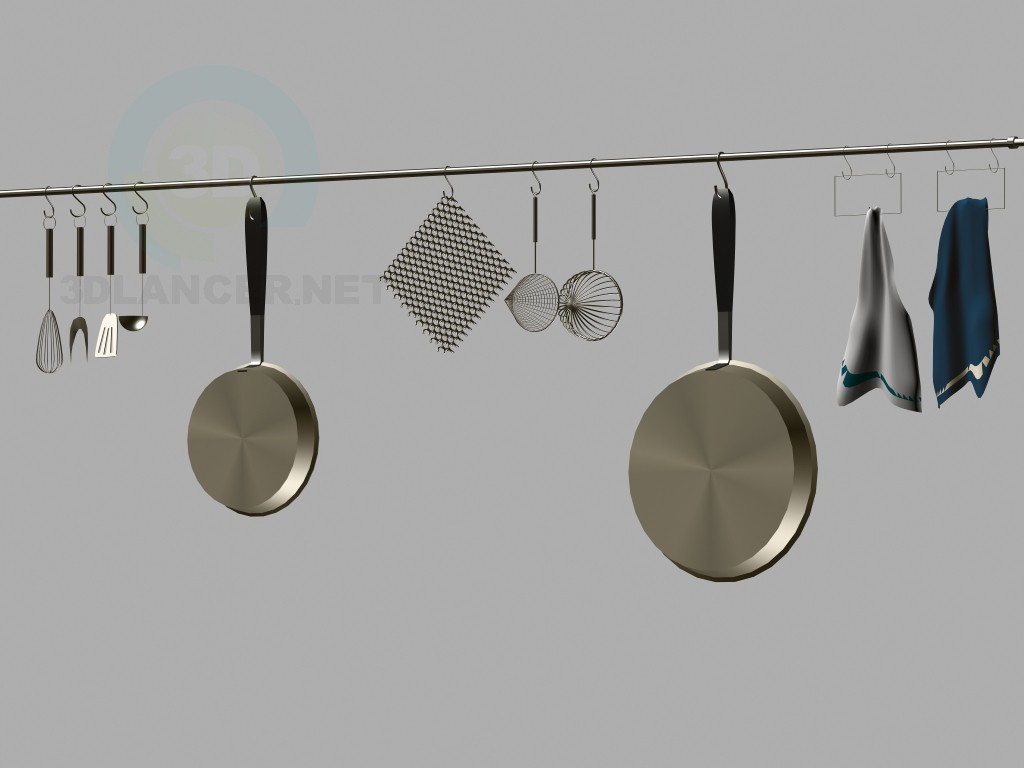 3d model Kitchen ware set - preview
