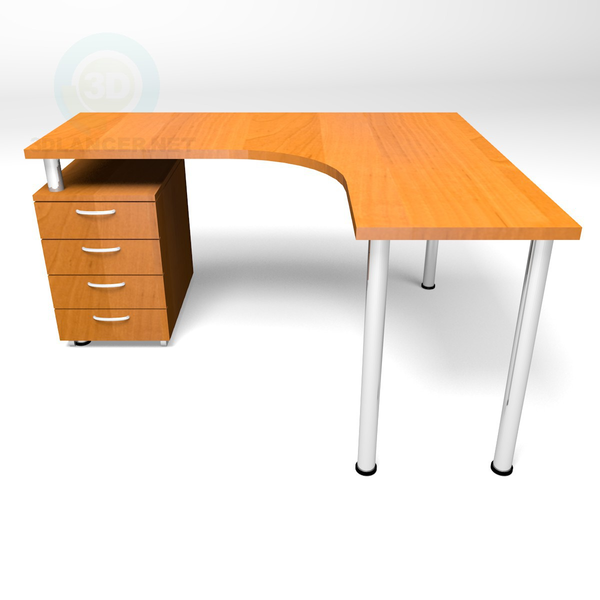 3d model Angular table 750-1500-1300 - preview