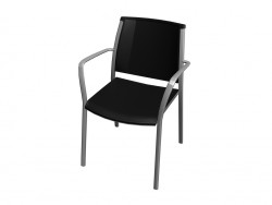 Stackable chair with armrests polipro