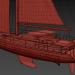 3d Sailing Yacht Amel 50 model buy - render