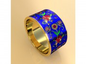 Ring with flowers