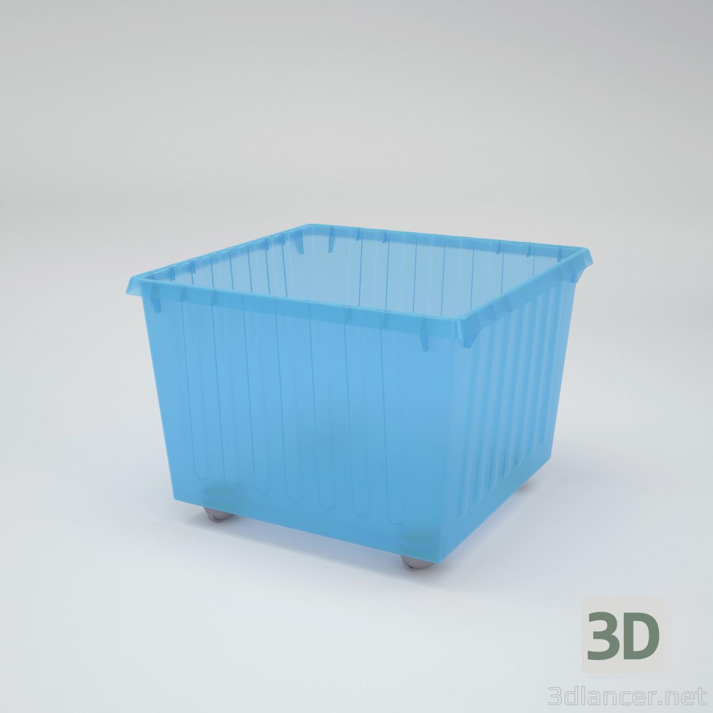 3d Storage box VESSLA (IKEA) model buy - render