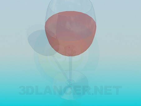 3d modeling A glass of rose wine model free download