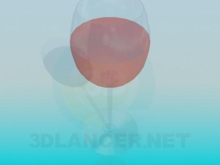 modelo 3D Una copa de vino rosado - escuchar