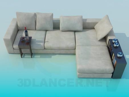 3d modeling Corner sofa model free download