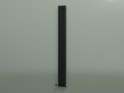 Radiatore verticale RETTA (4 sezioni 2000 mm 60x30, nero opaco)