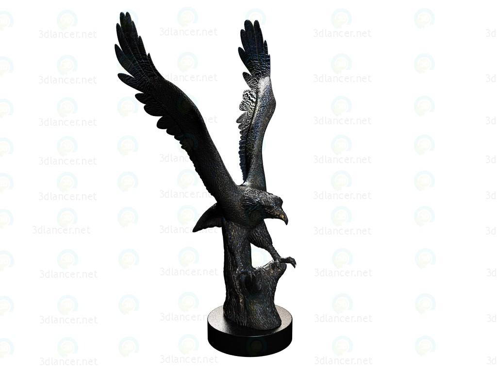 descarga gratuita de 3D modelado modelo Figura decorativa Mosaik águila