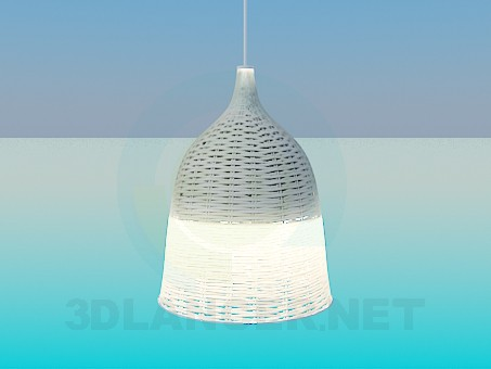 3d модель Светильник с плетеным абажуром – превью
