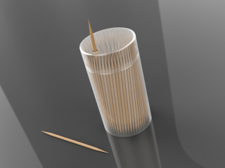 3D Double Pointed Toothpick