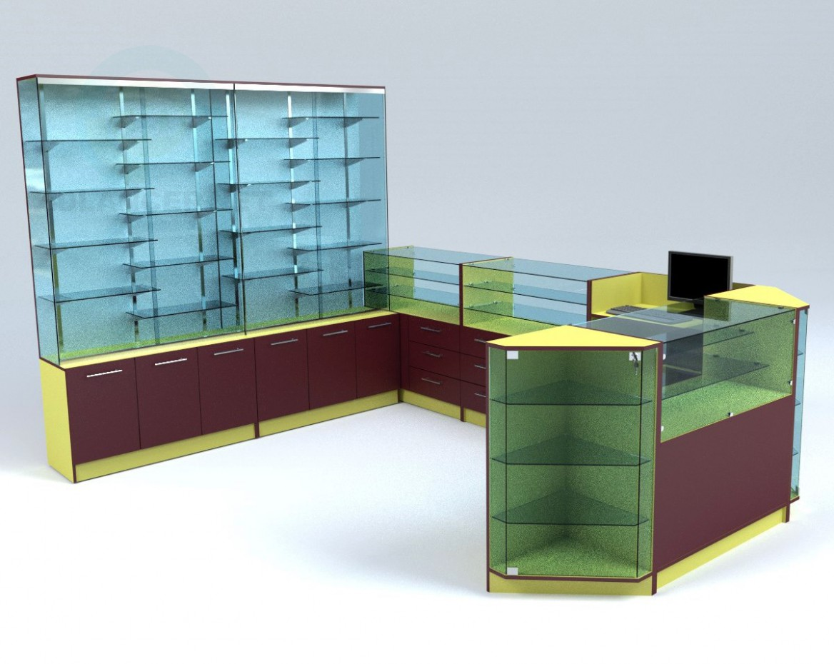 descarga gratuita de 3D modelado modelo Tipo isla de zócalos