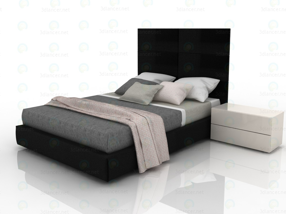 Tory double bed with a box for linen paid 3d model by ukka preview