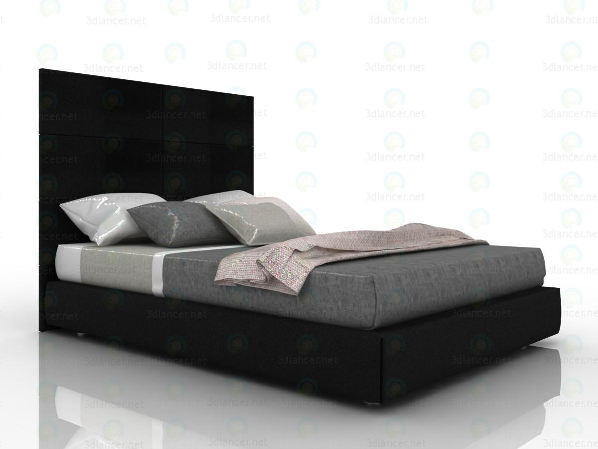3d Ліжко двоспальне Торі з ящиком для білизни модель купити - зображення