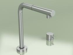 Kitchen sink mixer with external mixer, swivel under the window spout (443.12)