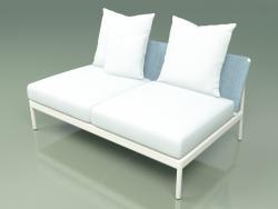 Módulo sofá central 006 (Metal Milk, Batyline Sky)