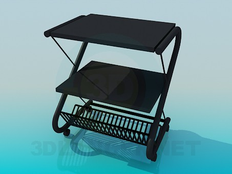 3d model Trolley in hotel - preview