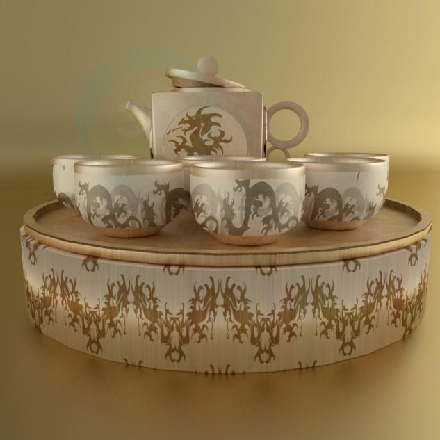 3d модель Чайний набір – превью
