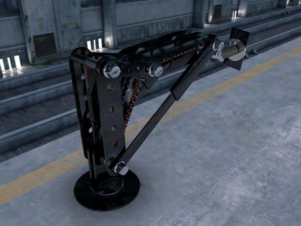 modelo 3D Robot de brazo - el brazo del robot - escuchar