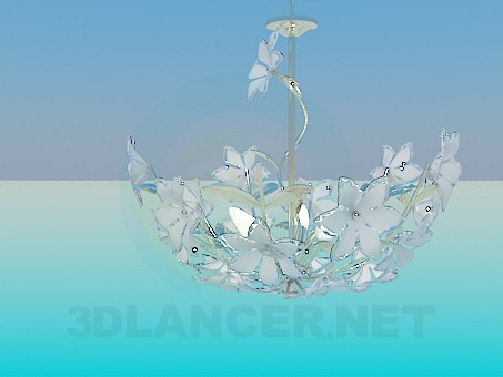 3d modeling Chandelier with flowers model free download