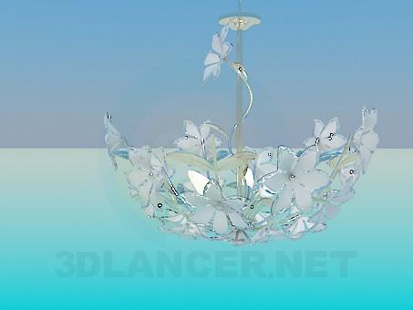 modelo 3D Lámpara con flores - escuchar