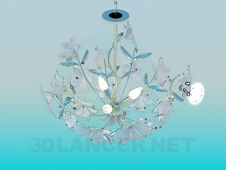 3d model Chandelier with flowers - preview