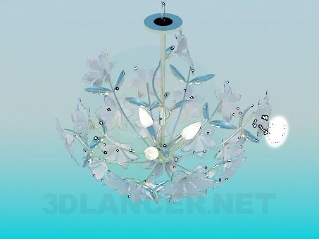 3d модель Люстра с цветочками – превью
