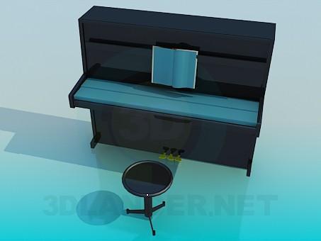 3D Modell Klavier - Vorschau