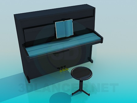 3d model Piano - preview