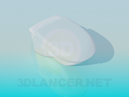 3d model Toilet bowl with a lid - preview