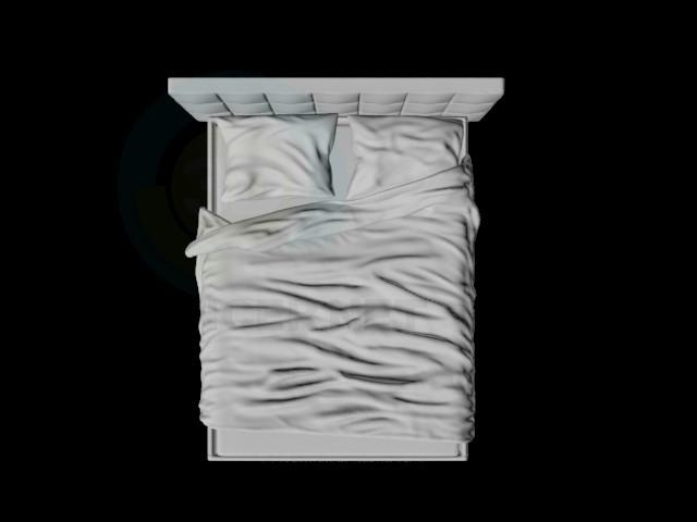 3d моделювання пом'ята ліжко модель завантажити безкоштовно