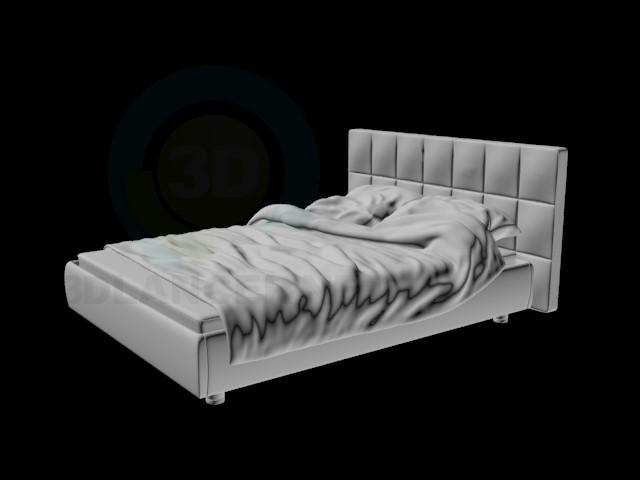 3d model wrinkled bed - preview