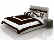 Bed with white-chocolate linens