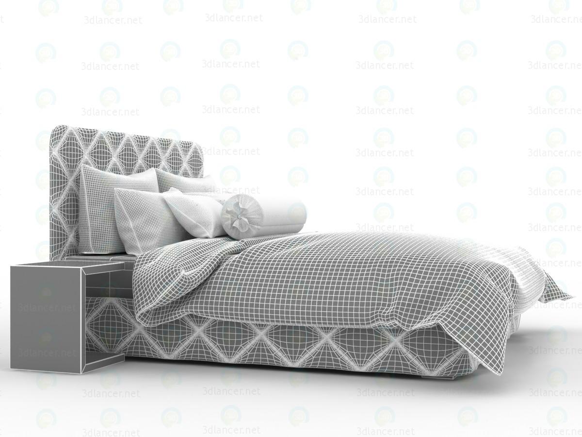 Cama con sábanas de chocolate blanco 3D modelo Compro - render