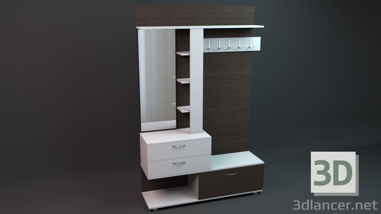 3d model Mueble de entrada - vista previa