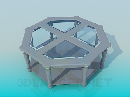 3d model Table in the form of octahedral - preview