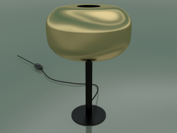 Table lamp Caminia (Gold lampshade, black base)