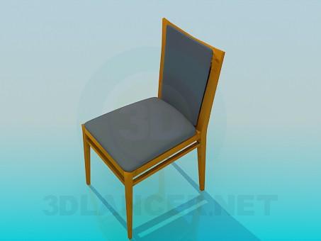3d модель Деревянный стул – превью