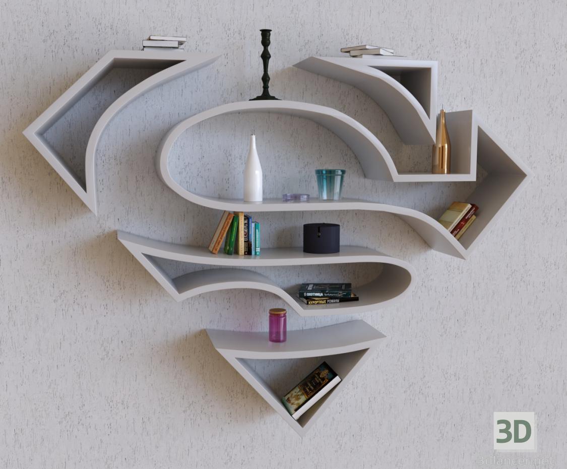 3d model Shelf Superman - Shelf Superman - preview
