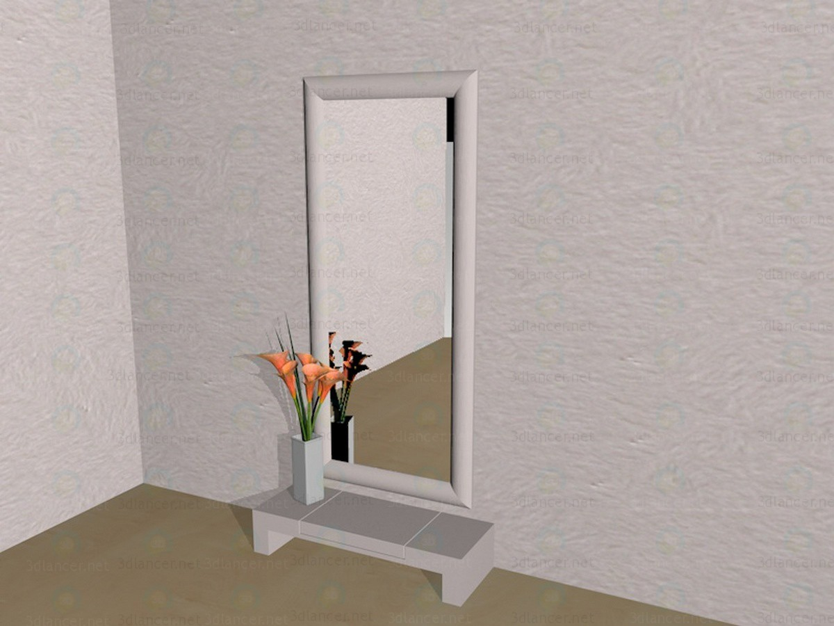 3d modeling Mirror in the hallway model free download