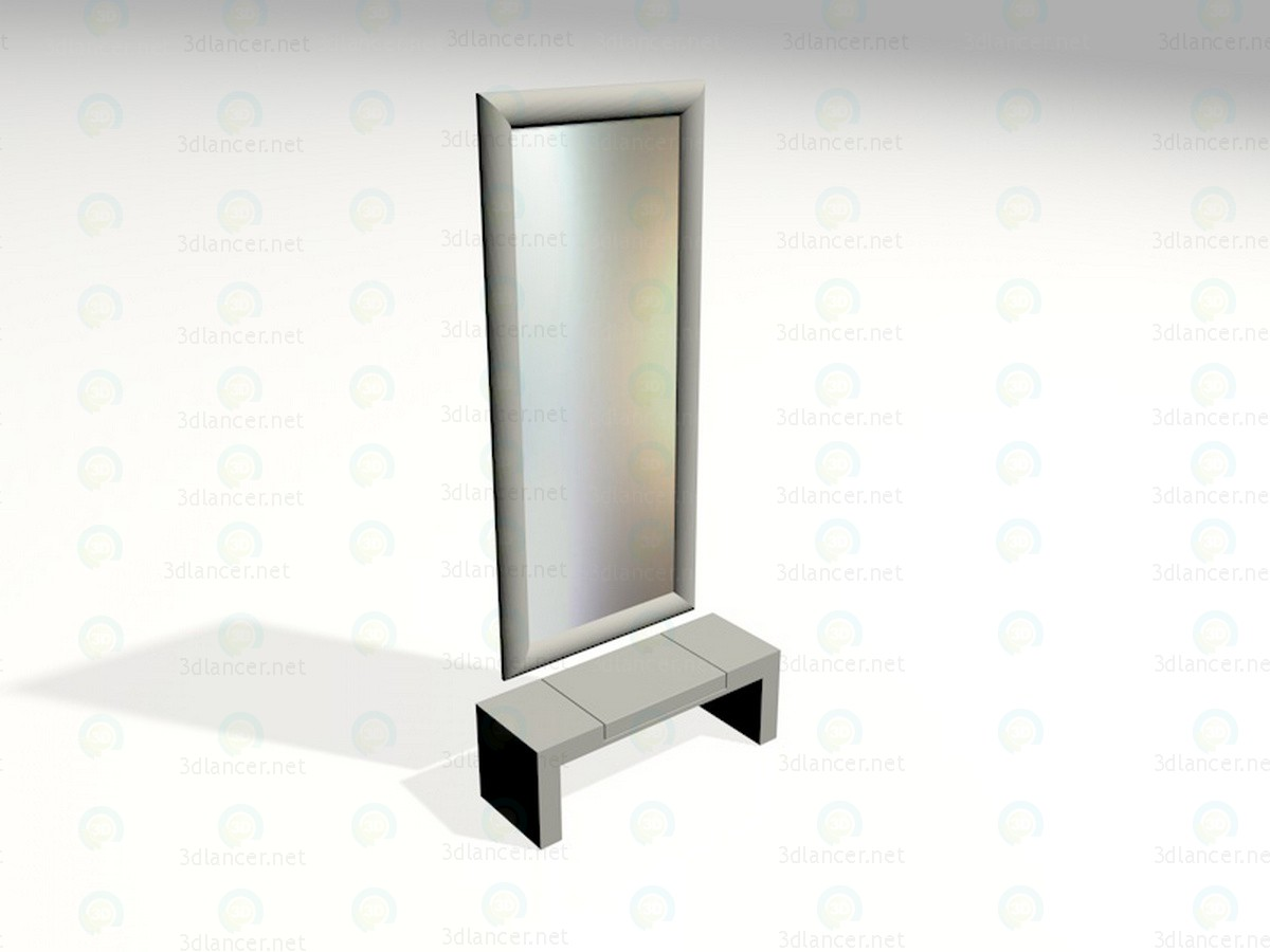 3d model Mirror in the hallway - preview