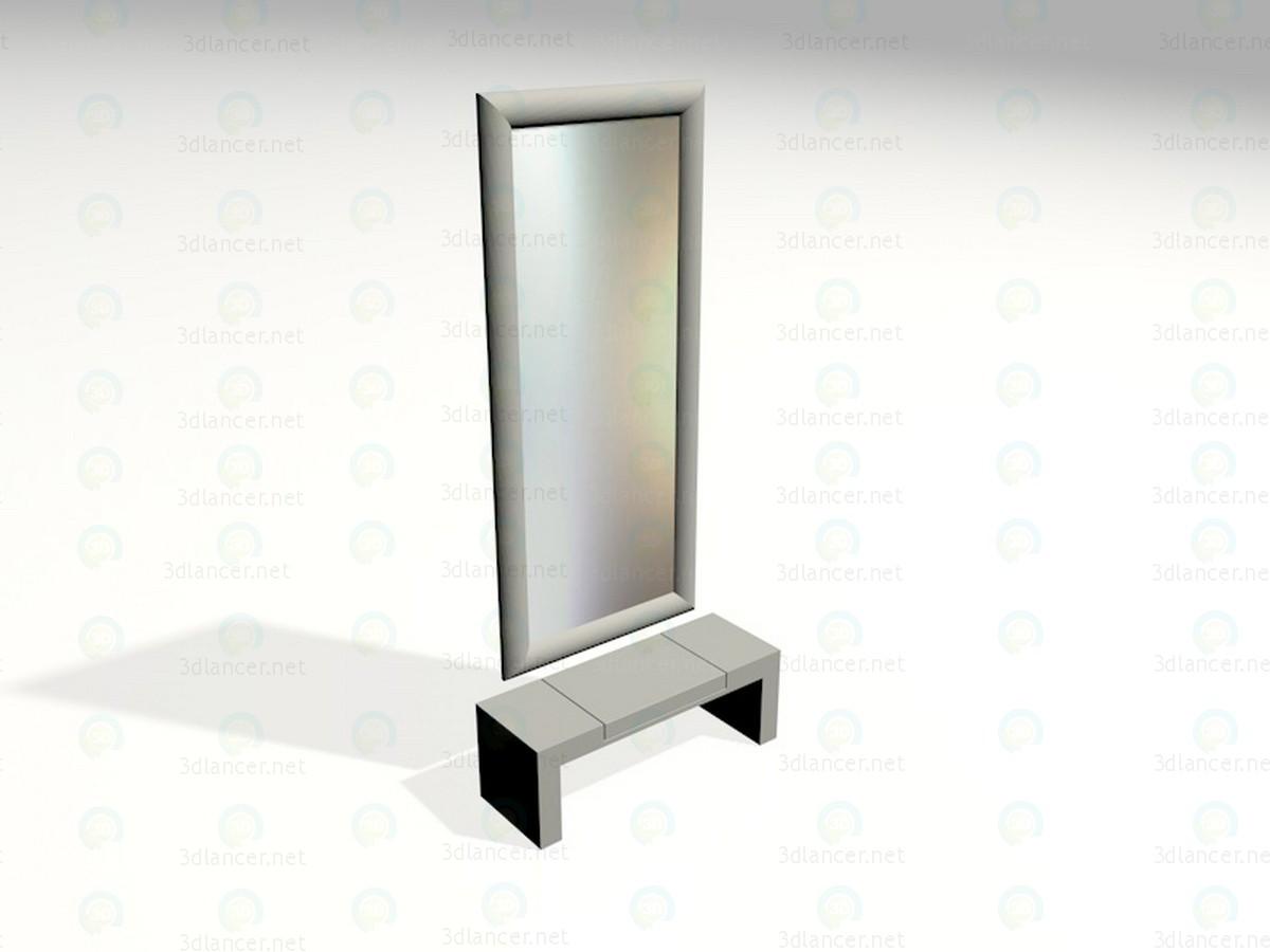 modelo 3D Espejo en el pasillo - escuchar