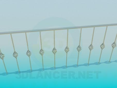 3d модель Ограда – превью