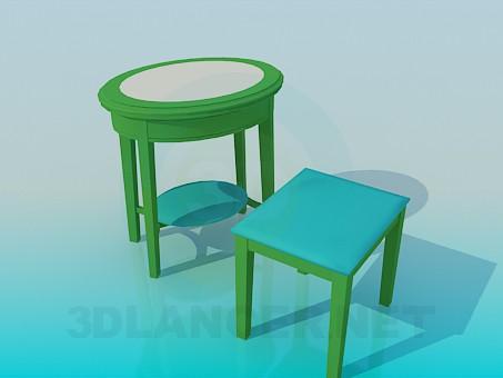 descarga gratuita de 3D modelado modelo Mesa y taburete