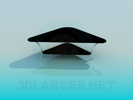 3d modeling Triangular coffee table model free download