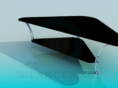 3d model Triangular coffee table - preview