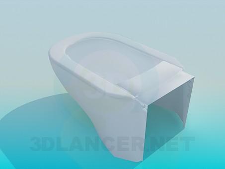 3d модель Современный туалет – превью
